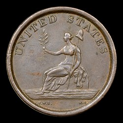 1783 Washington & Independence Cent, Large Military Bust,  BN