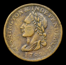1783 Washington Unity States Cent, BN