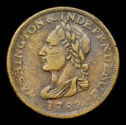 1783 Washington Unity States Cent, BN