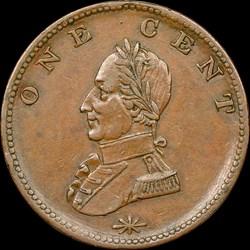 DBLD HEAD Washington Double Head Cent, BN