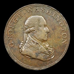 1795 Washington Liberty & Security Halfpenny, London Edge, BN