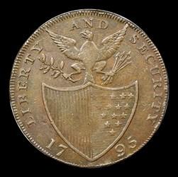 1795 Washington Liberty & Security Halfpenny, London Edge, BN