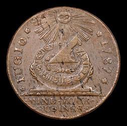 1787 Fugio Cent, UNITED STATES, Cinquefoils, BN