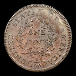 1797 1c s-138 Rev of '97, Stems, BN, MS