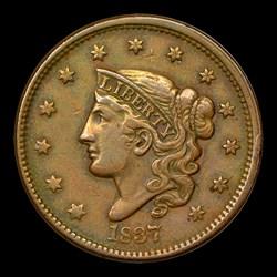 1837 1C HEAD OF 1838 N-9, MS BN