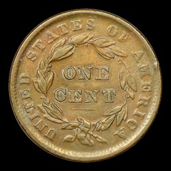 1839 1C Head of 1838, Beaded Cords, N-3, MS, BN