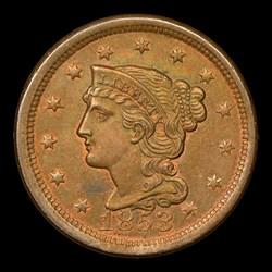 1853 1C, N-25, MS, BN