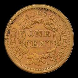 1856 1C Slanted 5, N-3, MS, BN