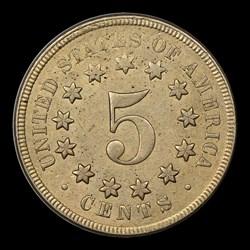 1867 5C NO RAYS, MS