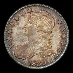 1830 50C Large 0, O-122, MS