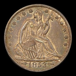 1853 50C Arrow and Rays, MS