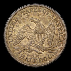1853 50C Arrow and Rays, MS