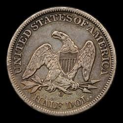 1861-O 50C, MS