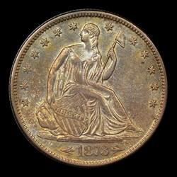 1873-S 50C Arrows, MS