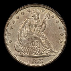 1875-S 50C, MS