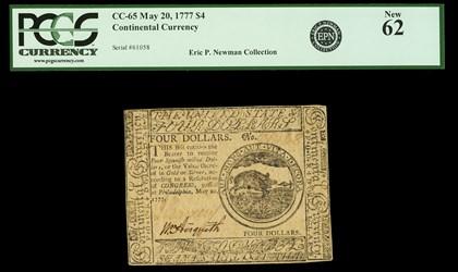 May 20, 1777 $4