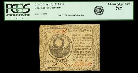 May 20, 1777 $30