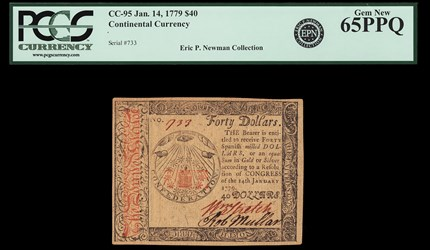 January 14, 1779 $40