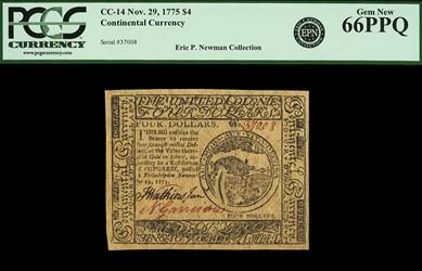 November 29, 1775 $4
