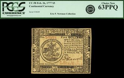 February 26, 1777 $5