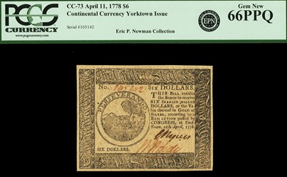 April 11, 1778 $6