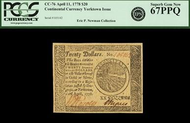 April 11, 1778 $20