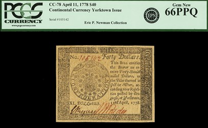 April 11, 1778 $40
