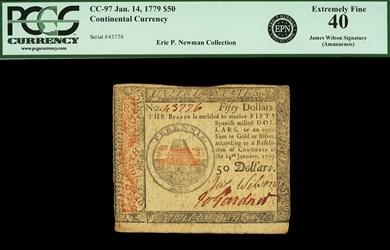 January 14, 1779 $50