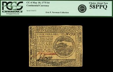 May 10, 1775 $4