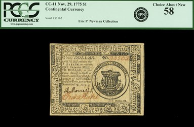 November 29, 1775 $1