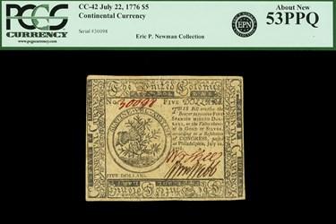 July 22, 1776 $5