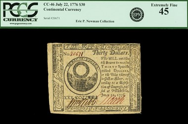 July 22, 1776 $30