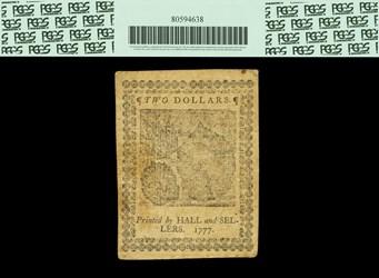 May 20, 1777 $2