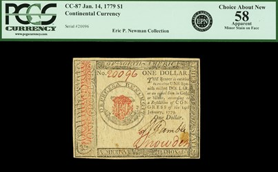 January 14, 1779 $1