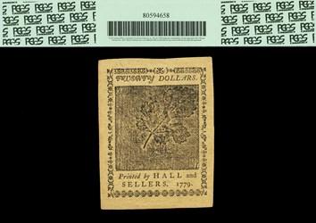 January 14, 1779 $20