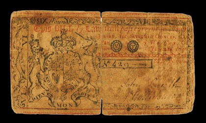 Early Paper Money of America / New Jersey / 1756 June 22