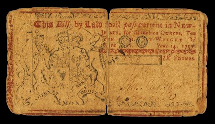 Early Paper Money of America / New Jersey / 1757 June 14