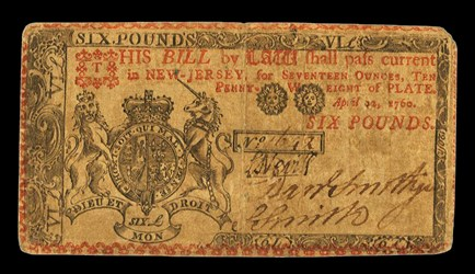 Early Paper Money of America / New Jersey / 1760 April 12
