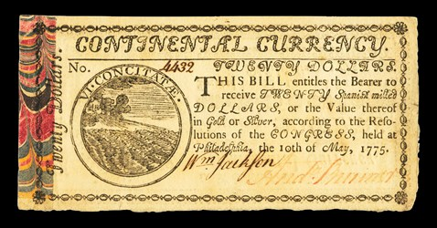 Early Paper Money of America / Continental Currency / May 10, 1775