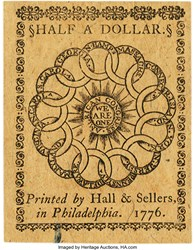 February 17, 1776 $1/2