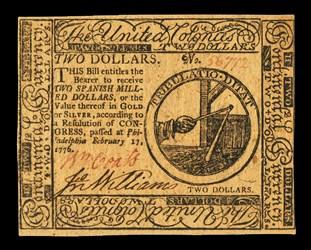 February 17, 1776 $2