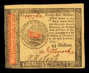 January 14, 1779 $45