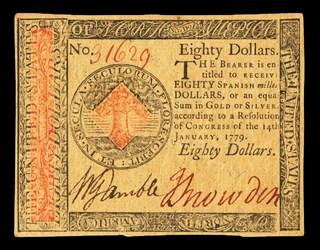 January 14, 1779 $80