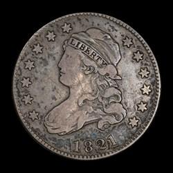 Quarter dollar 1821