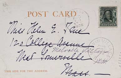 Reverse side: Augustus St. Gauden's Summer Home, Cornish, N.H.