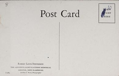 Reverse side: Robert Louis Stevenson