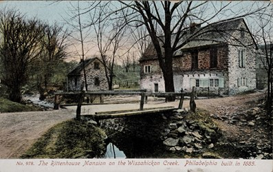 The Rittenhouse Mansion on the Wissahickon Creek. Philadelphia built in 1685.