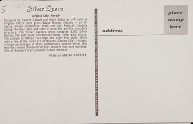 Reverse side: Silver Queen