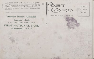 Reverse side: American Banker's Association Traveler's Cheques