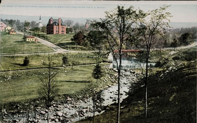 The home of Senator Crane and where he manufacturers paper for U.S. money